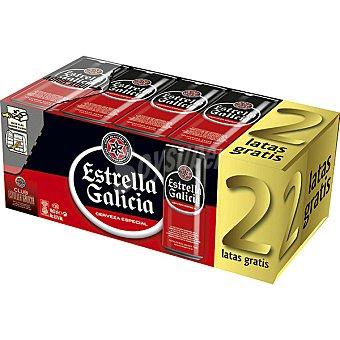 Estrella Galicia Cerveza rubia especial pack 8 latas 33 cl Pack 8 latas 33 cl