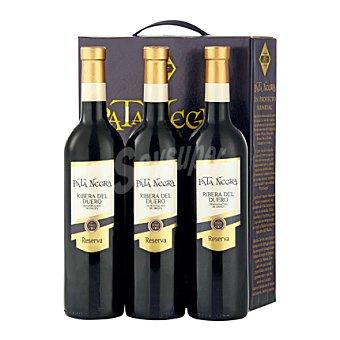 """Pata Negra Estuche de vino D.O. """"Ribera del Duero"""" tinto reserva pack 3x75 cl"""