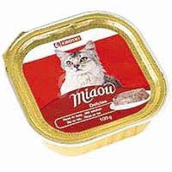 Eroski Delicias de buey Miaow Tarrina 100 g