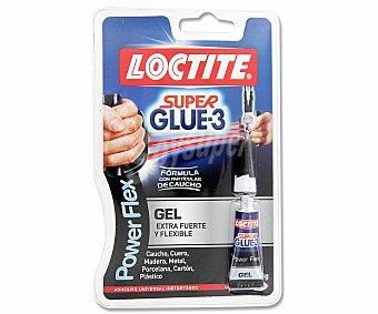 SUPER GLUE 3 de Loctite POWERFLEX  de adhesivo instanteo con acabado transparente Tubo de 3 gramos