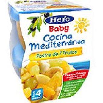 Hero Baby Tarrina de 7 frutas Cocina Mediterránea