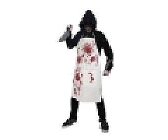 HAUNTED HOUSE Complemento para disfraz de Halloween, Delantal Sangriento 1 unidad