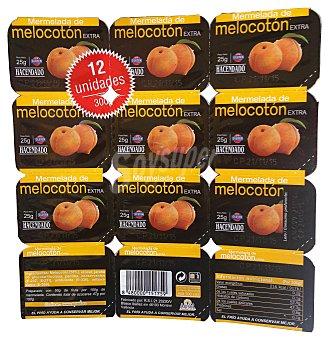 Hacendado Mermelada melocotón Tarrina pack 12 x 25 g - 300 g