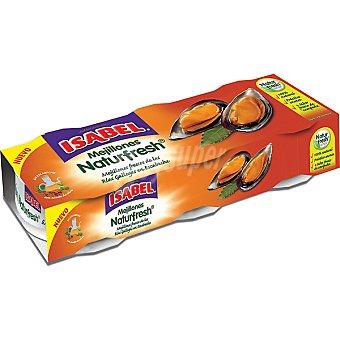 Isabel Mejillón Naturfresh en escabeche 3 latas de 50 g