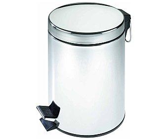 WENKO Cubo de baño con pedal, capacidad de 3 litros, color cromado acabado brillo sellado 1 Unidad