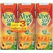 zumo de melocotón y soja pack 3 envase 250 ml Vivesoy