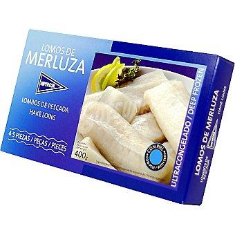 HIPERCOR lomos de merluza estuche 400 g neto escurrido