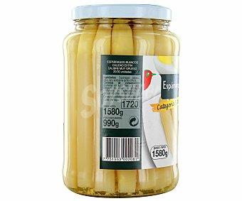 Auchan Espárragos blancos muy gruesos 20/25 piezas 990 gramos peso escurrido