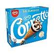 Conos de helado de leche, con trocitos de avellana Pack 6 x 90 ml Cornetto Frigo