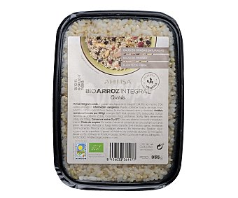 Ahimsa Arroz integral cocido, procedente de agricultura ecológica 355 gramos