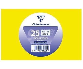 Clairefontaine Tarjetas de visita de tamaño 82 x 128 milímetros, peso de 210 gramos y de color amarillo 25 unidades