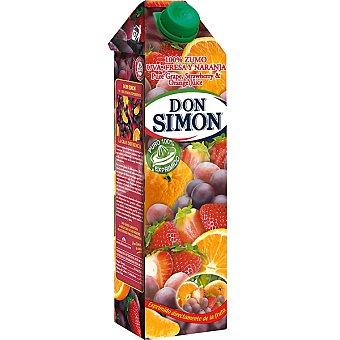 Don Simón Zumo de uva, fresa y naranja Envase 1 l