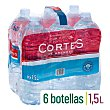 Agua mineral natural  Pack 6 x 1.5 l  Cortes