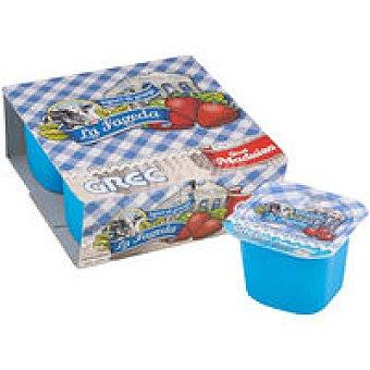 La Fageda Yogur griego de fresa Pack 4x125 g