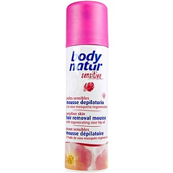 BODY NATUR Sensitive Mousse depilatorio a la rosa mosqueta regeneradora pieles sensibles Spray 200 ml