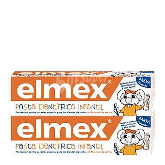 ELMEX Dentífrico Infantil protección contra la caries 2 unidades de 50 ml