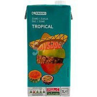 Eroski Zumo tropical Brik 1 litro