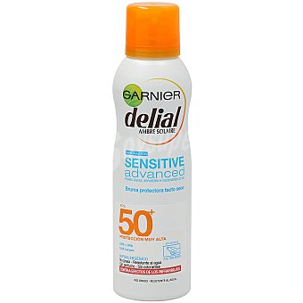 Delial Garnier Protector solar corporal fps 50+ bruma sensitive advanced (spray) Bote 200 cc