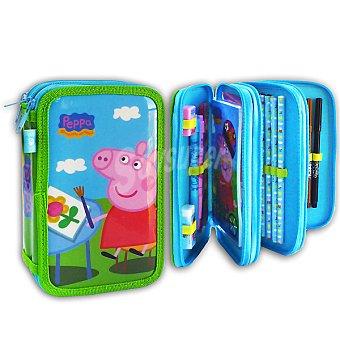 CIFE Plumier de 3 pisos con accesorios de pintura y escritura Peppa Pig 1 unidad