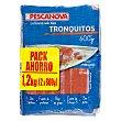 Surimi congelado tronquitos de mar ***bajada pvp*** Paquete pack 2 x 600 g - 1200 g Pescanova