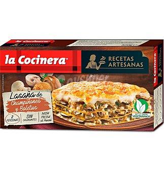 La Cocinera Lasaña champiñones y boletus 500 g