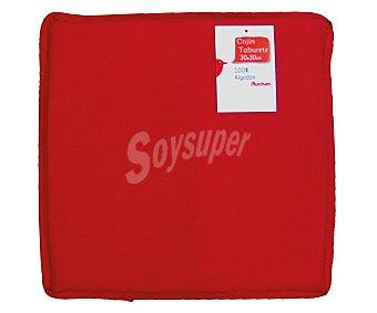 AUCHAN Cojín redondo para taburete, color rojo liso, modelo Panamá, 30x30 centímetros 1 Unidad