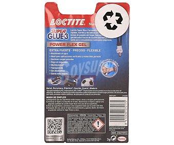 Loctite Super Glue 3 Adhesivo Instanteo Transparente Extra-fuerte y Flexible en Gel 1 unidad, 3 Gramos