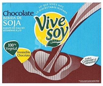 Vivesoy Bebida de soja con chocolate 8 Unidades de 1 Litro