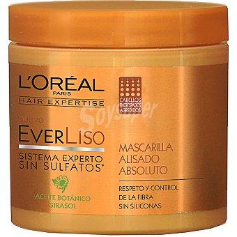 Solar Expertise L'Oréal Paris Mascarilla everliso alisado absoluto con aceite botánico y girasol para cabellos encrespados y agredidos Tarro 200 ml