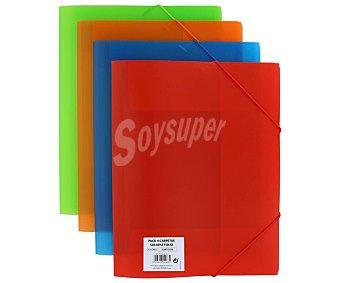 Grafoplás 4 carpetas de polipropileno translucido de varios colores tamaño A4 grafoplas
