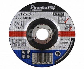 PIRANHA Disco de Corte para Metal de 125 Milímetros de Diámetro 1 Unidad