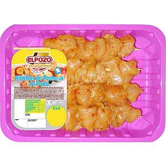 ElPozo Pinchos de pechuga de pavo adobado Bandeja 300 g