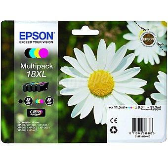 Epson Nº 18 XL cartucho de tinta multipack cuatricolor