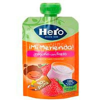 Hero Nanos ¡super Merienda| yogur con fresa 100 g