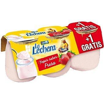 La Lechera Nestlé Yogur sabor fresa pack 2 unidades 125 g + 1 gratis Pack 2 unidades 125 g