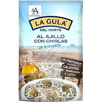 Angulas Aguinaga Gula del norte fresca al ajillo con chirlas Estuche 125 g