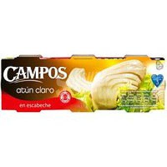 Campos Atún claro en escabeche Pack 3x80 g