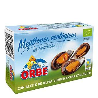 Orbe Mejillones en escabeche en aceite de oliva virgen extra ecológicos 72 g