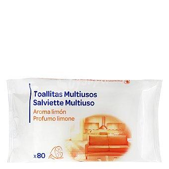 Carrefour Toallita Multiusos Aroma Limón- Cítrico 80 ud