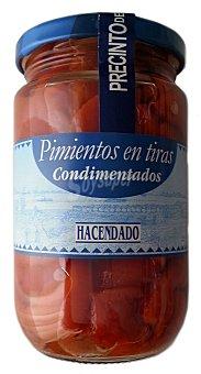 Hacendado Pimiento rojo tiras condimentadas conserva Tarro 185 g escurrido