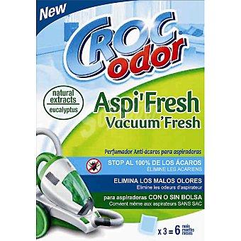Croc Odor Ambientador perfumador anti-ácaros para aspiradoras caja 3 sobres