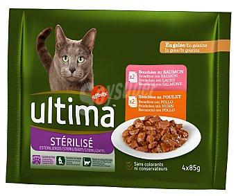 Ultima Affinity Comida para gatos esterilizados multipack Paquete 4 x 85 g