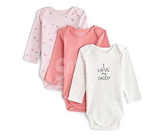 In Extenso Lote de 3 bodies de algodón para bebé Talla 92.