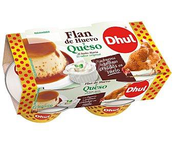 Dhul Flan de huevo y queso al baño maria 4 x 110 g