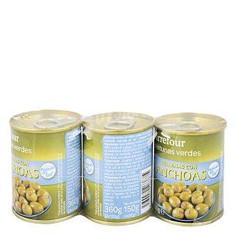 Carrefour Aceitunas rellenas de anchoa bajas en sal 150 g