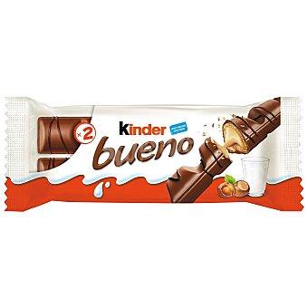 Kinder Bueno Barritas de chocolate con leche y crema de avellana  Paquete 2 x 43 g