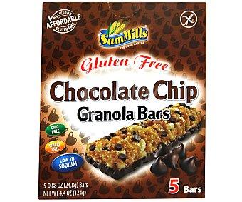 Sam Mills Barritas Chocolate chips sin gluten 5 unidades