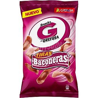 Grefusa Tiras Baconeras snacks de maíz Bolsa 135 g