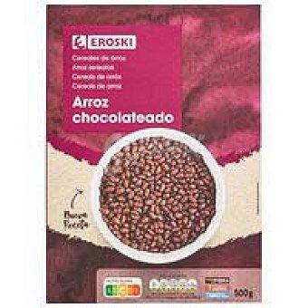 Eroski Cereales de arroz inflado chocolate eroski, caja 500 G Caja 500 g