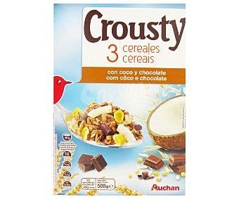 AUCHAN CROUSTY Muesli 3 Cereales 500g